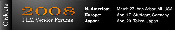 CIMdata 2008 PLM Vendor Forum Logo